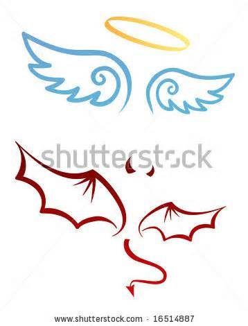 Angel And Devil Attributes Stock Vector 16514887 Shutterstock Design