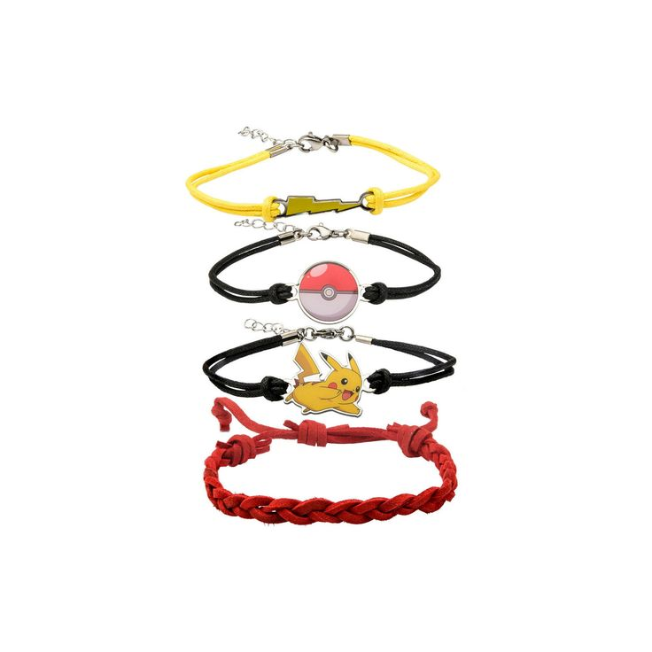 Pokémon Army Party Bracelet Set, Women's, Multi-Colored