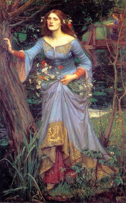Another Pre-Raphaelite Ophelia. Not Lizzie Siddal as the model though. John Willian Waterhouse
