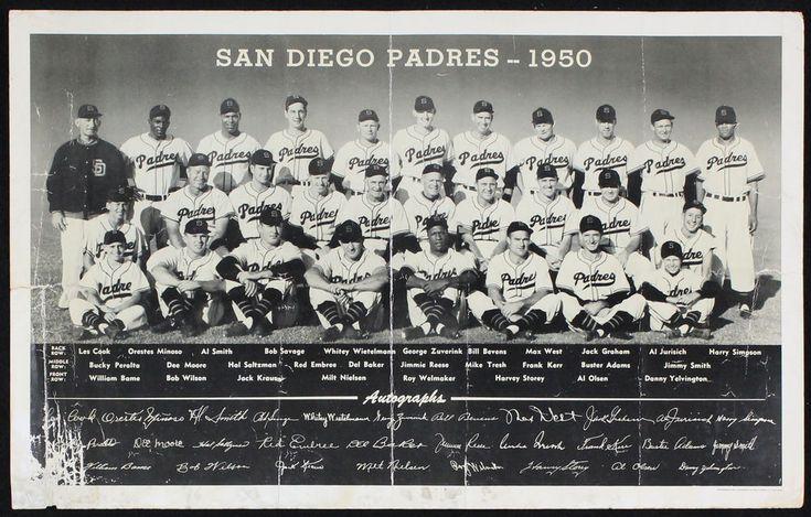 1950 San Diego Padres PCL Premium w/Minoso, Reese, Negro Leaguer Roy Welmaker