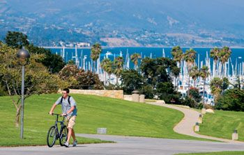 Santa Barbara City College, arguably the most beautiful campus in California.