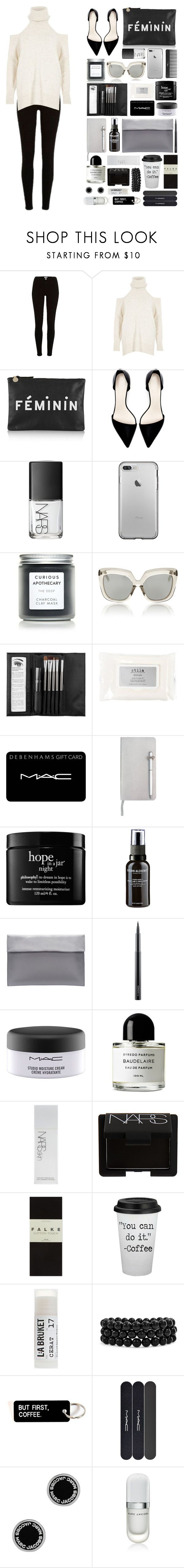 """Everyday outfit"" by mydlak-katarzyna ❤ liked on Polyvore featuring River Island, Clare V., Zara, NARS Cosmetics, SkinCare, Linda Farrow, Sephora Collection, Stila, MAC Cosmetics and ICE London"