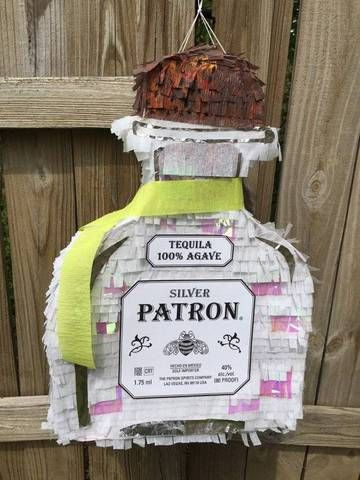 An adult pinata! (filled with tiny alcohol nips)