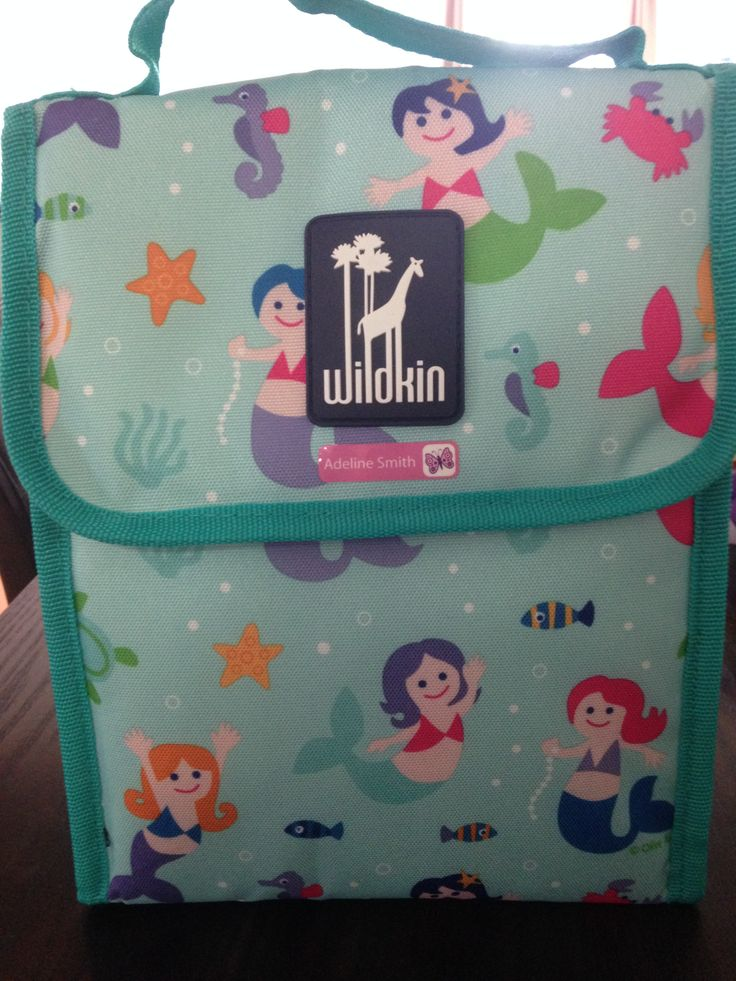 Wildkin Olive Kids Mermaids Munch N Lunch Bag A. Amazon - $12.71 B. I let my daughter chose the fabric over the many styles they had for this bag. C. The bag is a little bigger than I thought it would be, it barely fits in the backpack, but it's insulated well and the Rubbermaid container I bought for her lunches fits perfectly inside it!