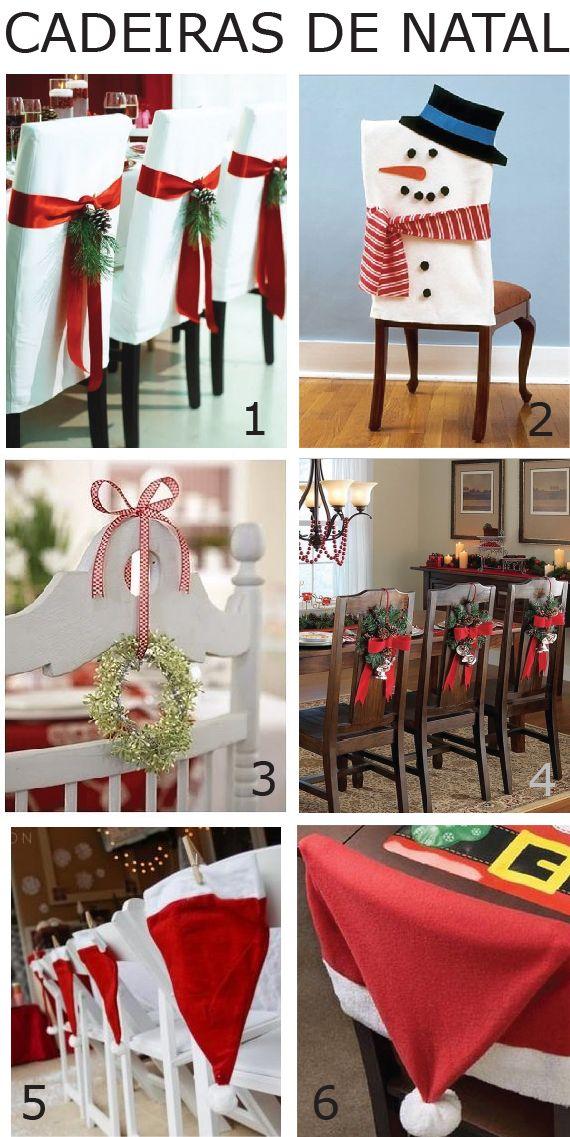 Decoração de Natal – Cadeiras