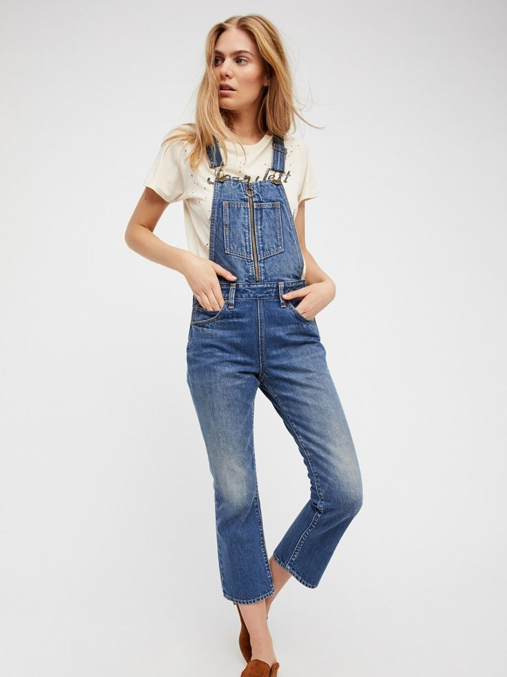 Orange Tab Denim Overalls | Classic denim overalls featuring a zip front closure on the bib.    * Adjustable straps   * Double zip closures on the sides   * Slim relaxed leg   * Five-pocket style