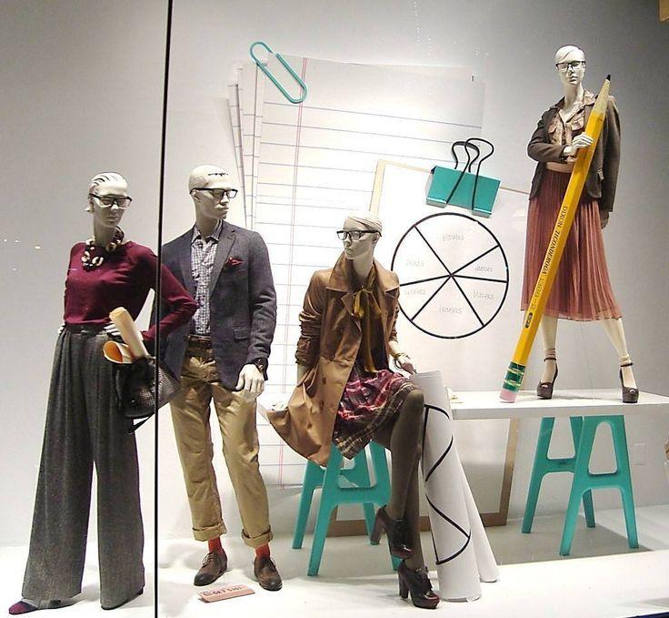 The 9 to 5 collection @nordstrom #vmlife #windowdisplay #visualmerchandising #visualmerchandiser #hm #backtoschool #9to5 #mannequin #vmdaily via @surender_gnanaolivu