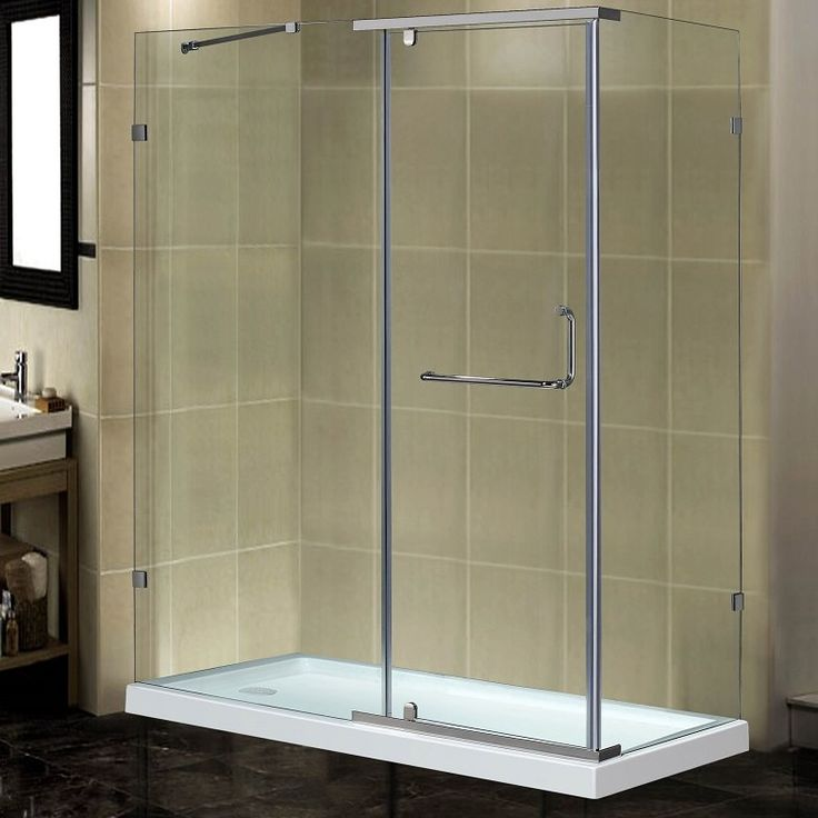 "60"" x 35"" x 77.5"" Semi-Frameless Rectangular Shower Enclosure with Low-Profile Base"