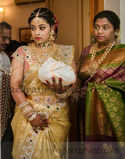 Smiling Bride in Kundan Diamond Sets | Jewellery Designs