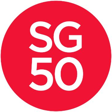 50 Years of Singapore Independence 1965-2015 or SG50 dynamic logo