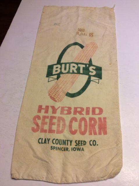 Burt's Hybrid Clay Co Seed Co Spencer, Iowa  13.5x29.5