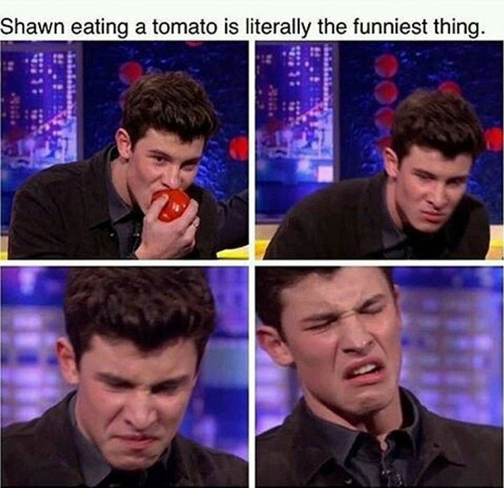 That is me when I eat tomatoes too. They are some nasty little things