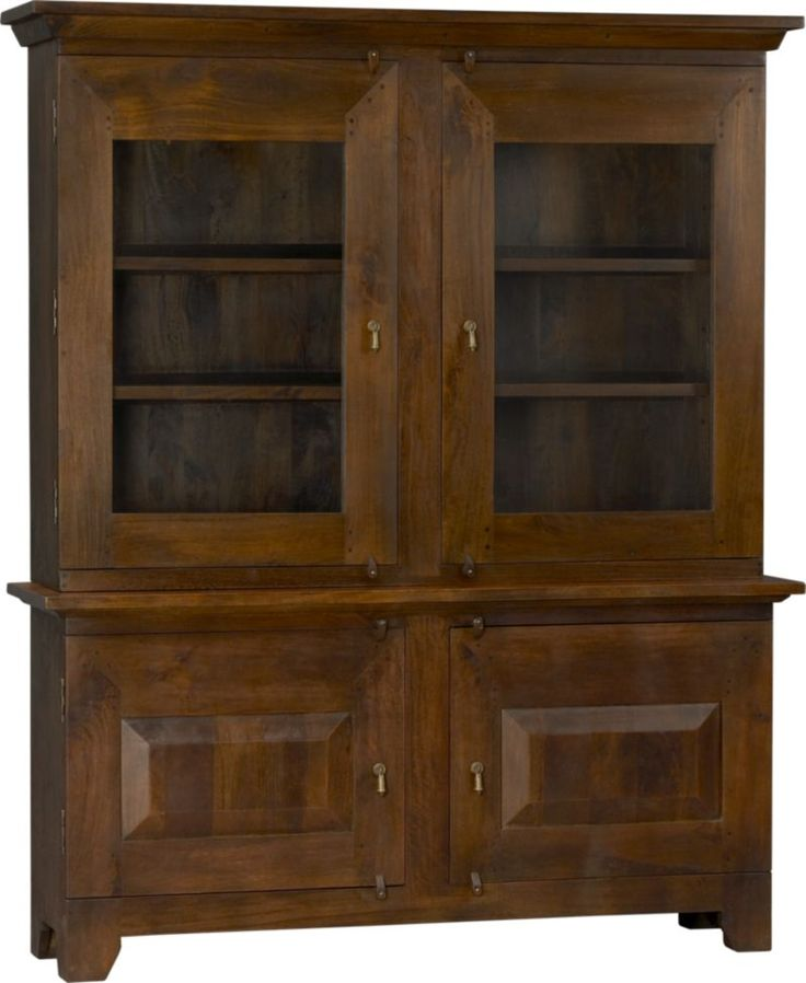 Basque Honey Large Buffet with Hutch Top in Dining, Kitchen Storage | Crate and Barrel