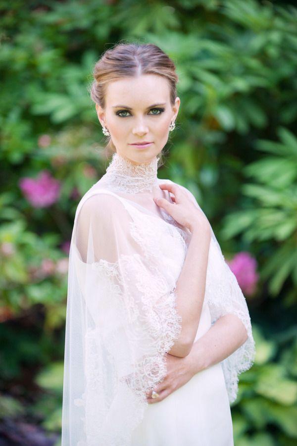 Darling sheer wedding dresses - Ines Di Santo gown -- Sheer neckline wedding gown | fabmood.com