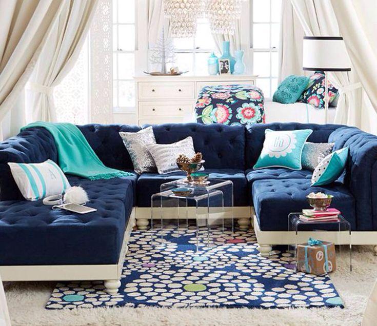 attic room ideas for teenagers - PB Teen girls hangout area Acorn Falls Dr
