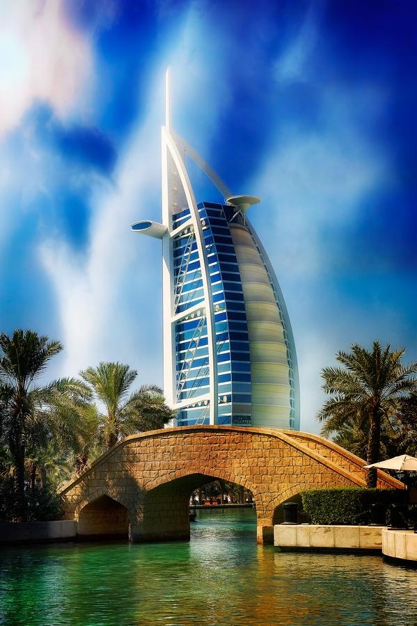 Burj Al Arab - I love seeing this beautiful hotel all the time!