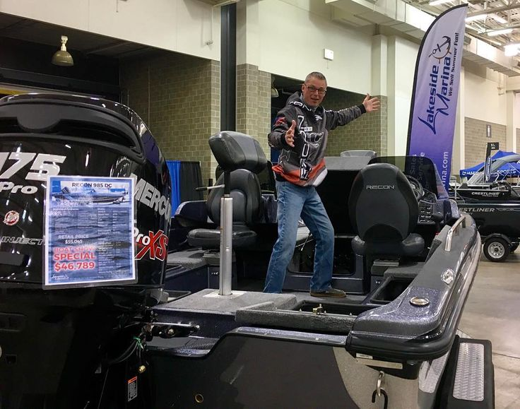 Lakeside Marina is at the #Madison #Wi #Fishing expo with some amazing #Recon #Boats - stop by and say hi to our main man Tom!