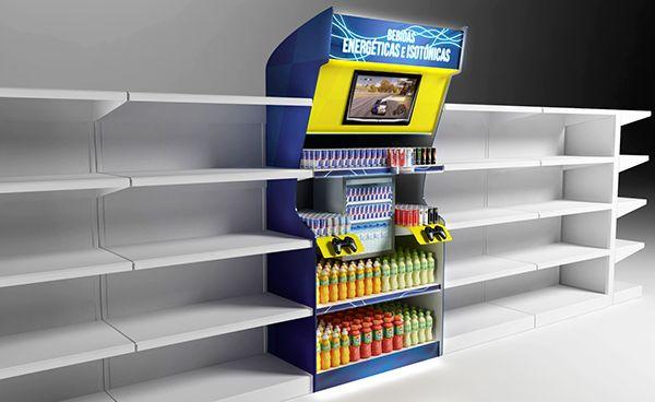 Supermarket Energy Drink / Red Bull  Display   on Behance