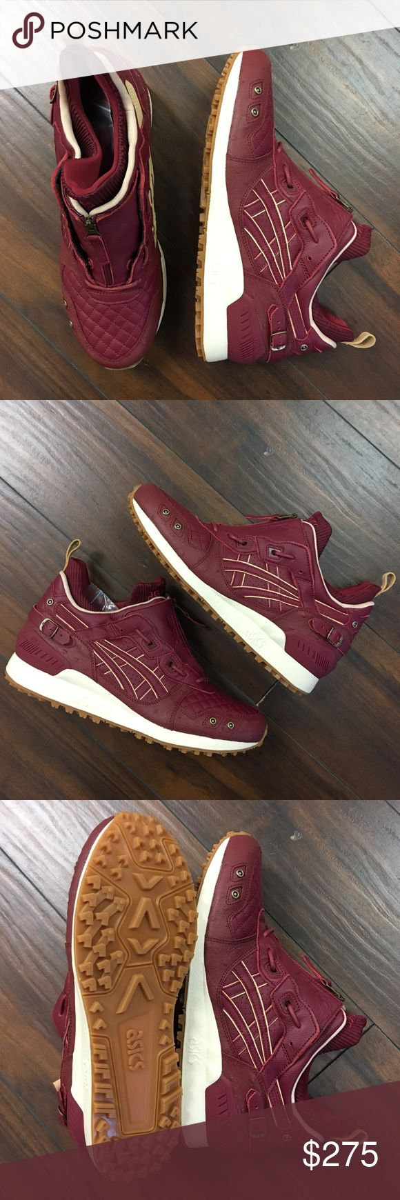 """Asics Gel Lyte MT Ghostface Killah Pretty Toney Brand new and never worn   Comes with OG everything including extra laces  Picked up at ComplexCon  Commemorates Ghostface Killah's album """"Pretty Toney"""" The legendary member of the Wu-Tang clan used a classic burgundy and gum colorway that's just in time for Autumn and winter Asics Shoes Sneakers"""