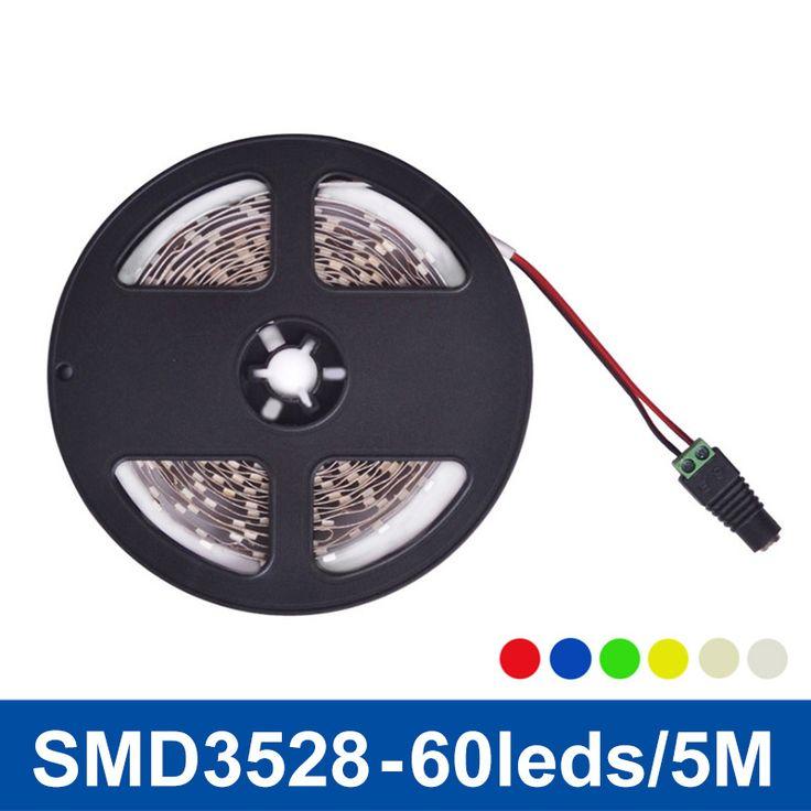 LED Lumière de Bande Non-imperméable à l'eau SMD3528 DC12V Flexible Lumières LED Lampe De Bande 60LED/m 5 m, Blanc, Blanc chaud, Bleu, Vert, Rouge, Jaune