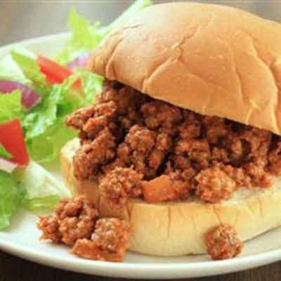 Sloppy Joes II: Meat Fillings, Fun Recipes, Brown Sugar, Ground Beef, Hamburg Buns, Hearti Meat, Garlic Powder, Green Peppers, Sloppy Joe