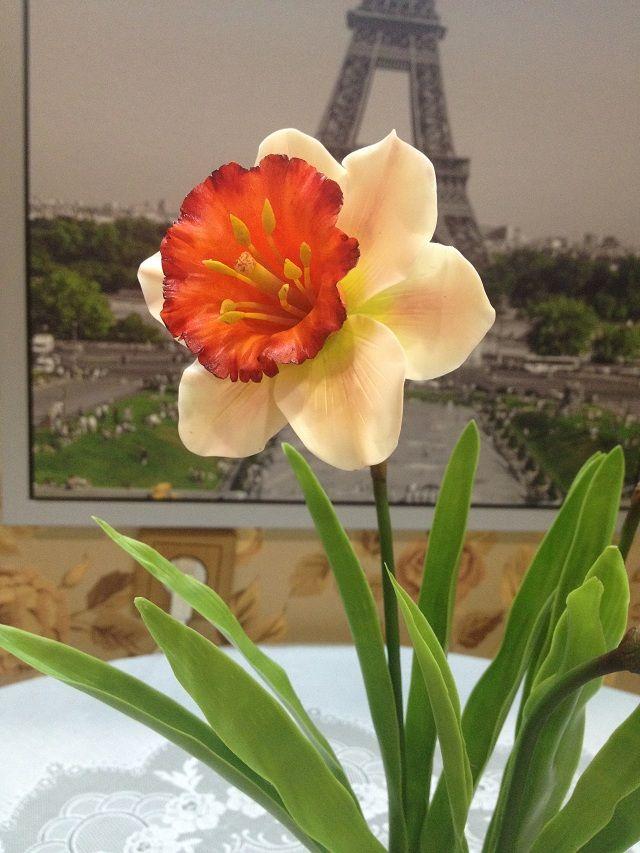 Керамическая флористика Нарцисс
