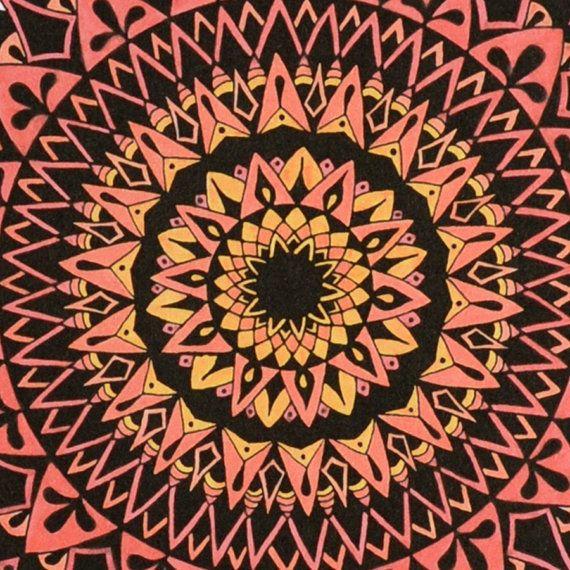 Gravity in Pink Mandala Print Zen Gift by SolCreationsArtwork