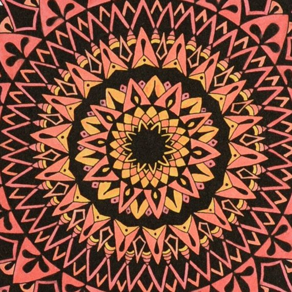 Gravity in Pink Mandala Print Zen Gift by SolCreationsArtwork