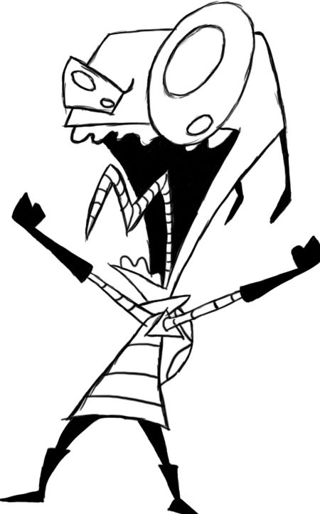 invader zim coloring pages - 17 best invader zim coloring pages images on pinterest