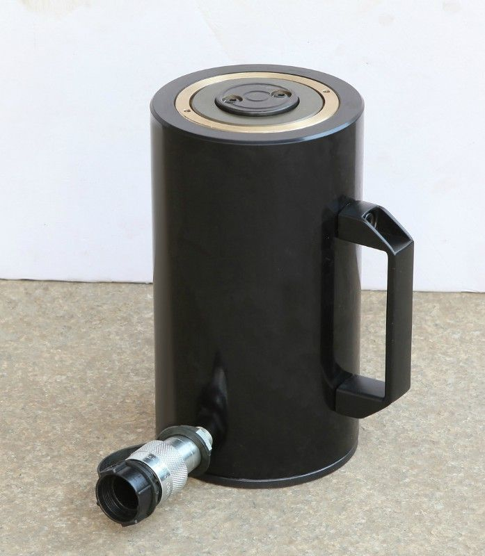 black color single acting hydraulic cylinder, customized for customers, more information on details, please contact  BRUCE@ADAM1987.COM