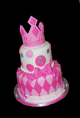 Silver cake studio tier pink white and silver princess for Adult birthday cake decoration