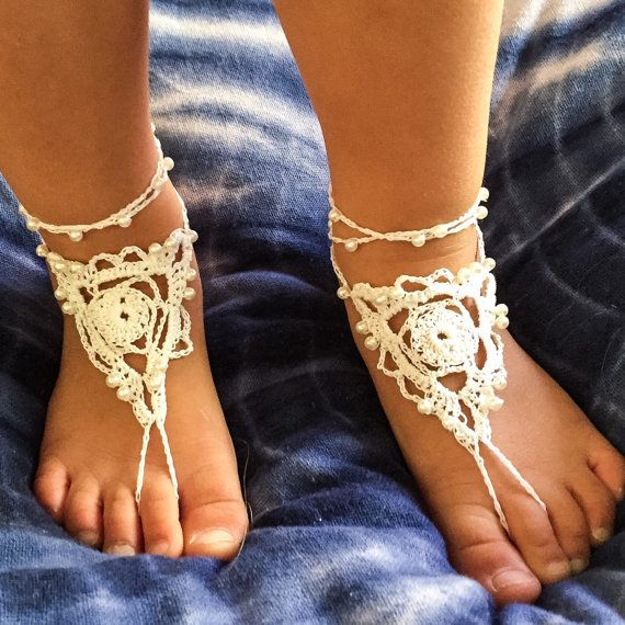 Baby barefoot sandals Toddler barefoot by Indigoskyecrochet