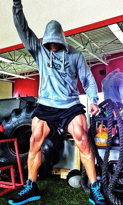 The Rock Legs Ripped - Dwayne Johnson showing off how to get a huge lower body