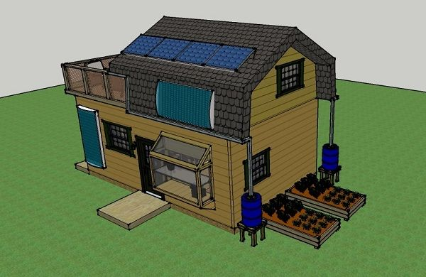 Solar Off Grid Small House 004 Mistys 400 Sq Ft 16x25