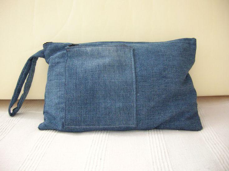 Bolso de mano en tela vaquera