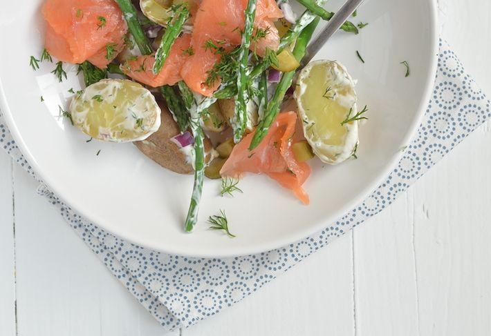 Aardappelsalade met zalm - Uit Pauline's Keuken