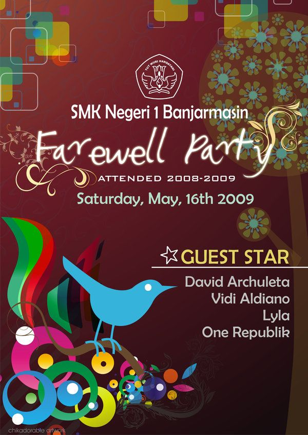 image result for poster for farewell party