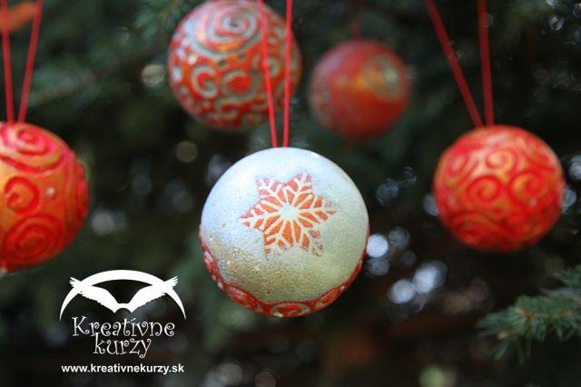 Servitkovacia technika - vianocne gule #diy #crafts
