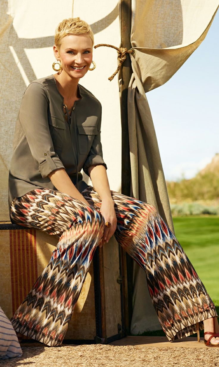 The Print Palazzzo: Killer legs with a soft touch. #DestinationFabulous #travel #spring #chicos