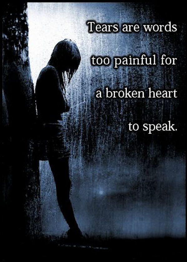Tears Are Words Too Painful For A Broken Heart To Speak Pictures, Photos, and Images for Facebook, Tumblr, Pinterest, and Twitter