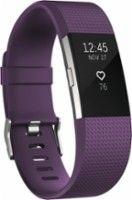 Fitbit - Charge 2 Activity Tracker + Heart Rate (Small) - Plum Silver - Angle Zoom