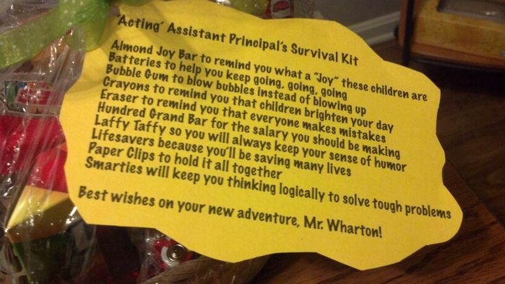 Tag On Survival Kit Assistant Principal Survival Kit