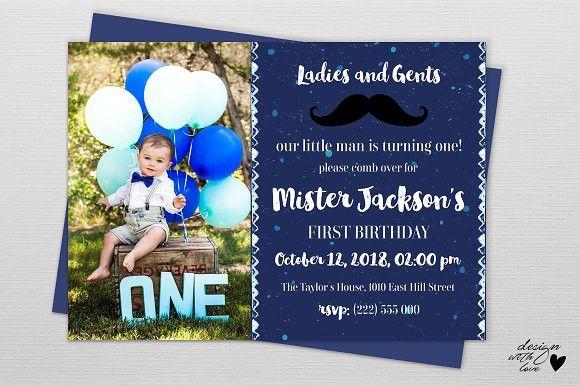 Birthday Invitation Card Little Man Little Man Birthday Birthday Invitations Birthday Cards For Men