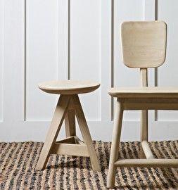 Roost stoel 3-poot hout - naturel - BePureHome
