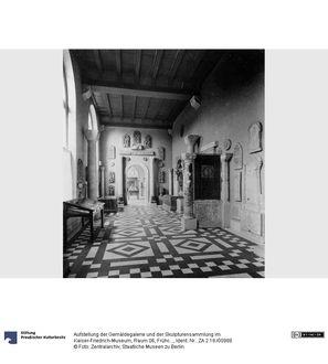Aufstellung der Gemäldegalerie und der Skulpturensammlung im Kaiser-Friedrich-Museum, Raum 06, Frühchristlich-Byzantinische Kunst, Blick in Raum 8