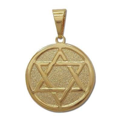 2dc957cb130b8 Pingente Estrela De Davi Folheado À Ouro 18k - R  28