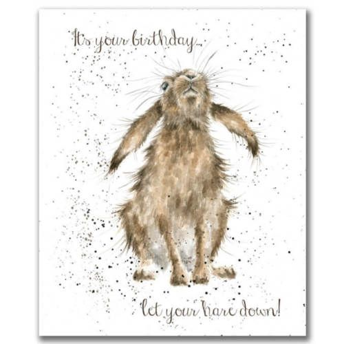 Details About Hare Birthday Card