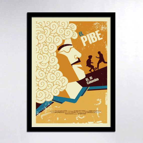 Colombian Heroes El Pibe Poster by ConsiderGraphics on Etsy, $25.00