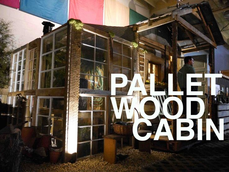 Free Small Cabin Plans Do It Yourself Cabin Plans Cabin: A Pallet Wood Potting Shed (potential For A Tiny House Or
