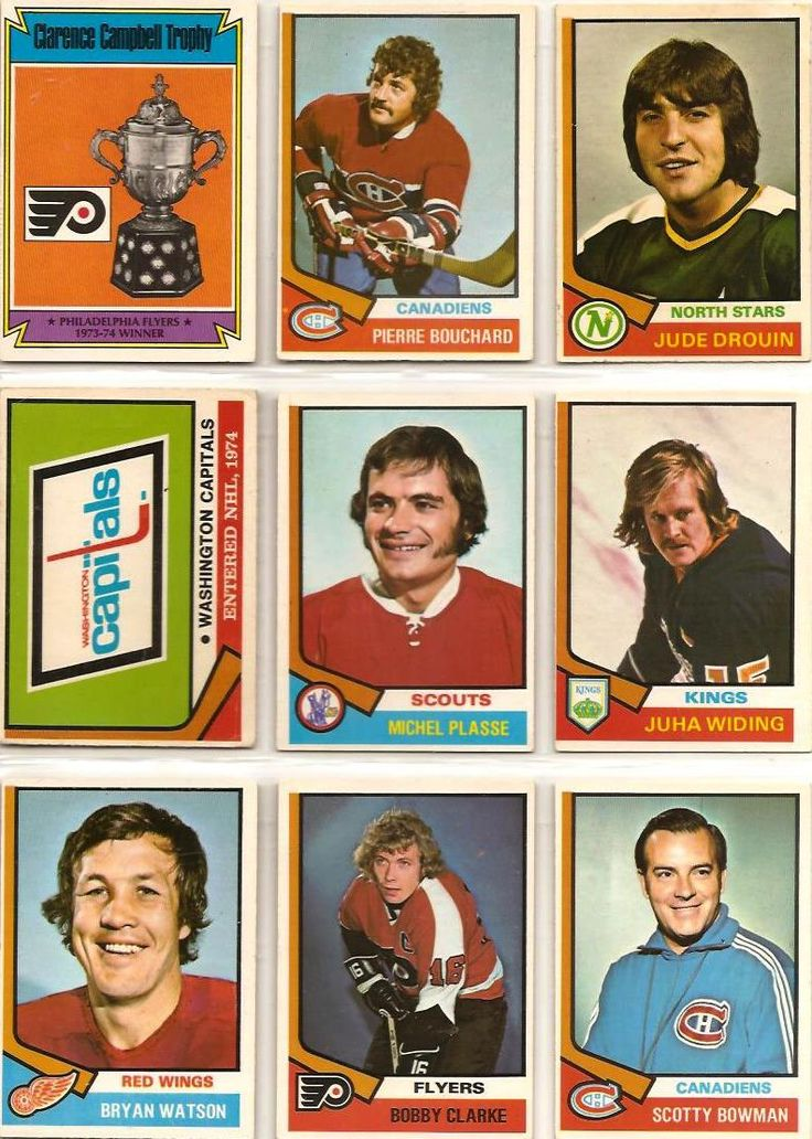 253-261 Clarence Campbell Trophy, Pierre Bouchard, Jude Drouin, Washington…